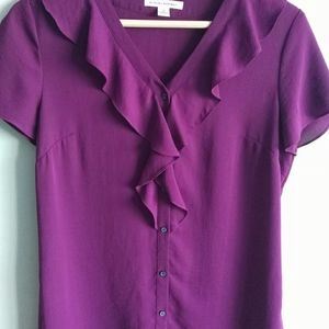 Banana Republic women's button up blouse sz 6